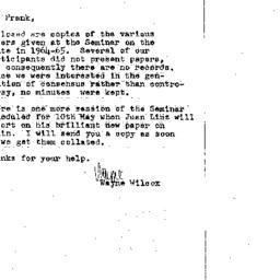 Correspondence, 1965-04-29....