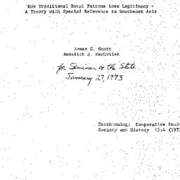 Speaker's paper, 1972-01-29...
