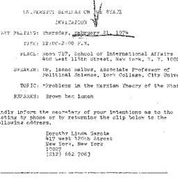 Announcements, 1974-02-21. ...