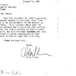 Correspondence, 1980-01-31....