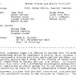 Minutes, 1981-01-20. The St...