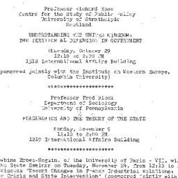 Announcements, 1981-10-29. ...
