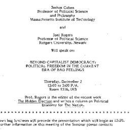 Announcements, 1982-11-17. ...