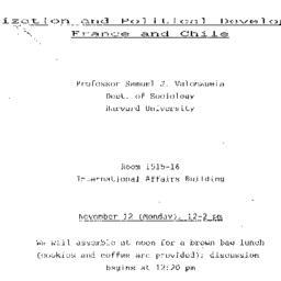 Announcements, 1984-11-12. ...
