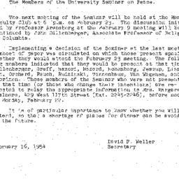 Minutes, 1954-02-09. The Pr...