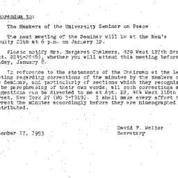 Minutes, 1953-12-15. The Pr...