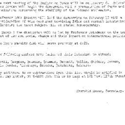 Announcements, 1958-12-29. ...