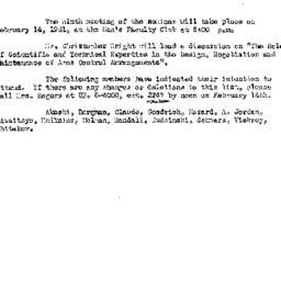 Announcements, 1961-02-09. ...