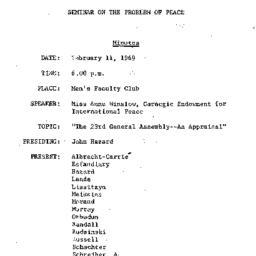 Minutes, 1969-02-11. The Pr...