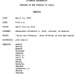 Minutes, 1969-04-15. The Pr...