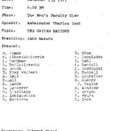 Minutes, 1971-11-23. The Pr...