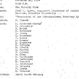 Minutes, 1974-11-12. The Pr...