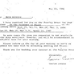 Correspondence, 1987-05-23....