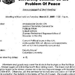 Announcements, 2000-03-21. ...