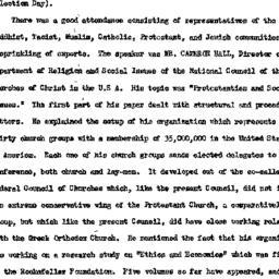 Minutes, 1954-11-09. Studie...