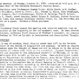 Minutes, 1974-10-14. Studie...