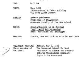 Announcements, 1978-04-10. ...