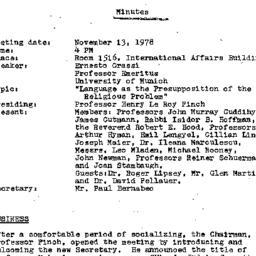 Minutes, 1978-11-13. Studie...