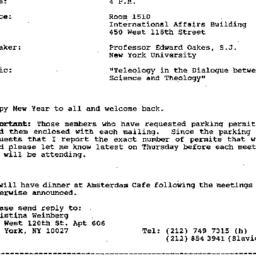 Announcements, 1993-02-01. ...