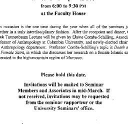 Announcements, 1993-04-28. ...