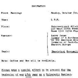 Announcements, 1992-10-05. ...