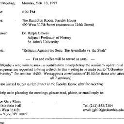 Announcements, 1997-02-10. ...