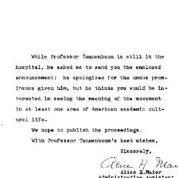 Correspondence, 1969-01-24....