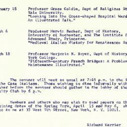Schedules, The Renaissance,...