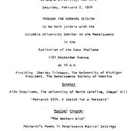Handouts, 1974-02-02. The R...