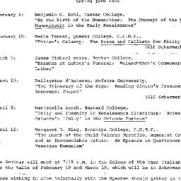 Announcements, The Renaissa...