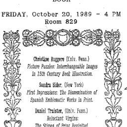 Announcements, 1989-10-20. ...