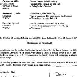 Correspondence, 1995-09-01....