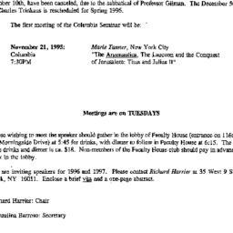 Correspondence, 1995-09-21....