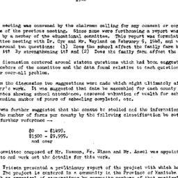 Minutes, 1948-02-19. Rural ...