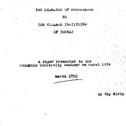 Speaker's paper, 1955-03. R...