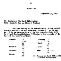 Announcements, 1963-09-30. ...