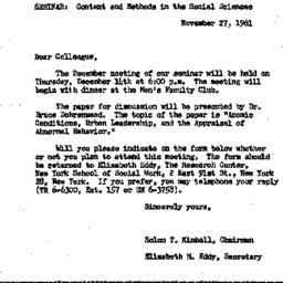 Correspondence, 1961-11-27....