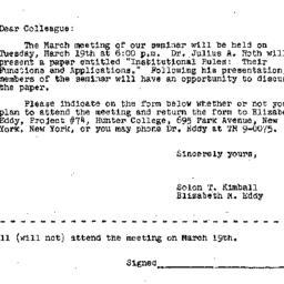 Correspondence, 1963-03-09....