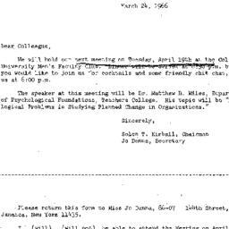 Correspondence, 1966-03-24....