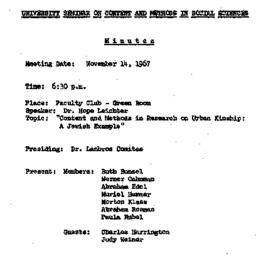 Minutes, 1967-11-14. Conten...