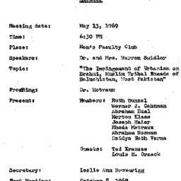 Minutes, 1969-05-13. Conten...