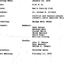 Minutes, 1970-01-14. Conten...