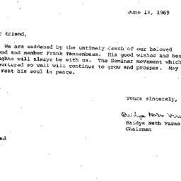 Correspondence, 1970-06-13....
