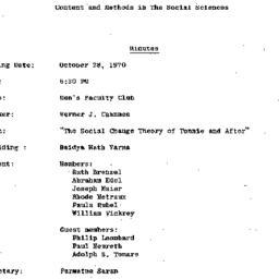 Minutes, 1970-10-28. Conten...