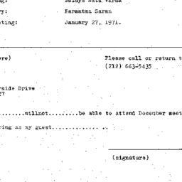 Announcements, 1970-12-09. ...