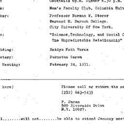 Announcements, 1971-01-27. ...