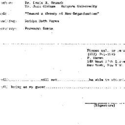 Announcements, 1972-10-11. ...