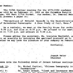 Correspondence, 1980-01-29....