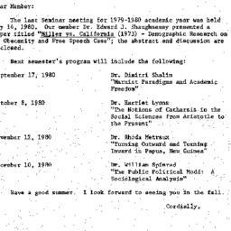 Correspondence, 1980-05-15....