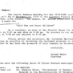 Correspondence, 1979-11-29....